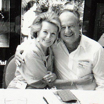 Jennifer Holt and Jimmy Rogers at a Charlotte, NC, Western Film Fair in 1988. (Courtesy Grady Franklin.)