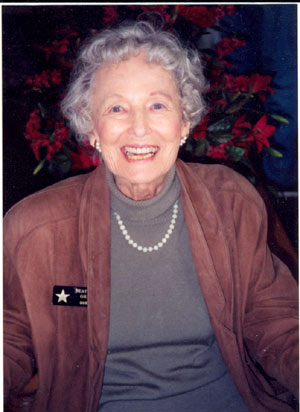 B-western leading lady Beatrice Gray at 88 attending a Jivin' Jacks and Jills reunion in Hollywood in the '90s.