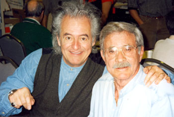 "Henry Darrow (Manolito) and Bobby Hoy (Joe) both of ""High Chaparral"" at a Hollywood Collector's show in the '90s."