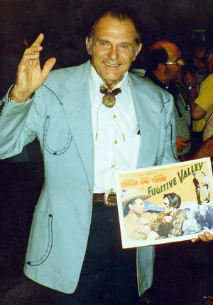 "Ray ""Crash"" Corrigan at the Memphis Film Festival in 1975."