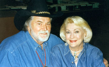 Gregg Palmer and Lori Nelson at the 1997 Knoxville Film Festival.