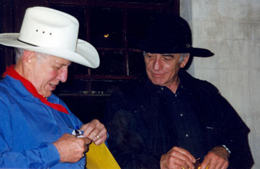 Jan Merlin and James Drury at a 1998 Film Festival in Cheyenne, Wyoming.