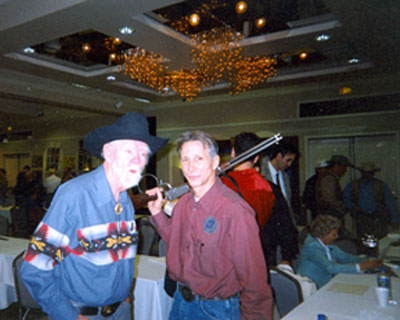 Two Johns...John Mitchum and Johnny Crawford at a Hollywood Collector's Show in the '90s.