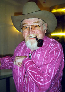 Jovial Gene Evans in Knoxville for the 1995 Western Film Festival.