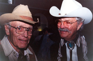 House Peters Jr. and Dale Robertson reunite at a Ray Courts Collector's Show in California.