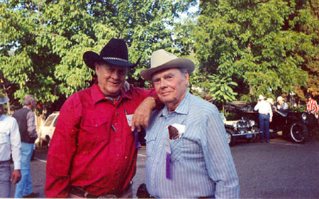 Ben Johnson and Walter Reed at the Sonora, CA, Film Festival in 1990.