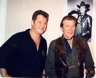 "Carey Long, son of Richard Long, and Peter Breck share a few ""Big Valley"" memories at a Ray Courts Collector's Show in California in 1998."