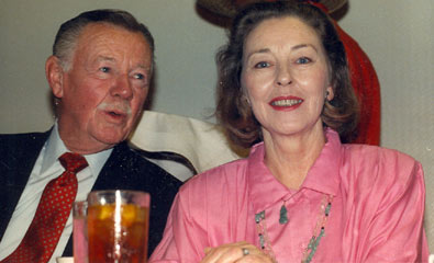 Jimmy Lydon and the gorgeous Lois Hall on the dais at the Memphis, TN, Film Festival in 1988.