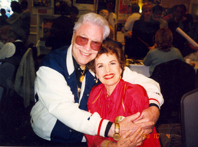 "We lost two wonderful people in 2009, Monte Hale and ""Our Little Margie"" Gale Storm. This picture was taken in 1998 at a Ray Courts Collector's Show in California."