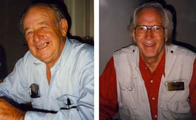 Jimmy Rogers and Greg Walcott at the Charlotte, NC, Western Film Fair in 1996.