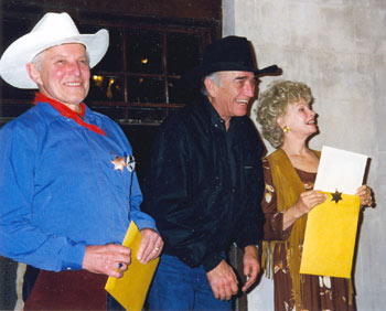 Jan Merlin, James Drury and Sue Ane Langdon at the 1998 Cheyenne, Wyoming,