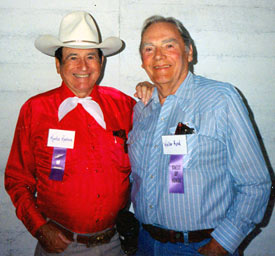 Montie Montana Jr. and Walter Reed at the Toulumne County, Sonora, California, Wild West Film Fest in 1991.