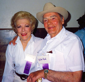 Virginia Vale and Walter Reed at the Toulumne County, Sonora, California, Wild West Film Fest in 1991.