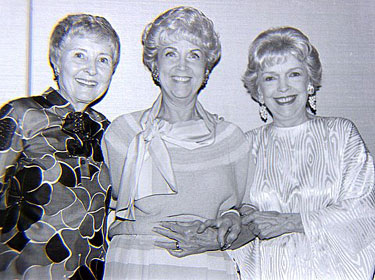 Three gracious ladies—Marion Shilling, Beth Marion, Verna Hillie at the Memphis Film Festival in 1985. (Thanx to Grady Franklin.)