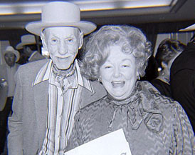 Hank Worden and Dorothy Fay Ritter at the 1987 Golden Boot Awards.