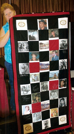 "Donna Wilmeth graciously made five quilts which were auctioned off at various panel discussions and at the banquet. This quilt was dedicated to ""The Virginian""."