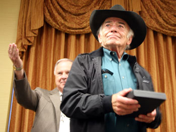 """The Virginian""—the one and only James Drury receives a well-deserved award on the 50th anniversary of the series."