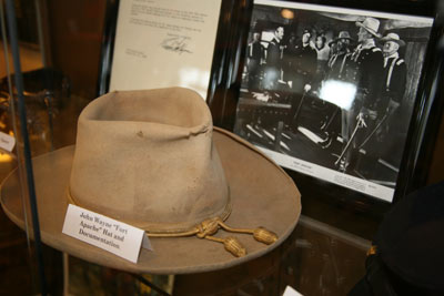 "Artifacts on loan to the festival and on display from the Boyd and Donna Magers Collection included John Wayne's hat from ""Fort Apache""."