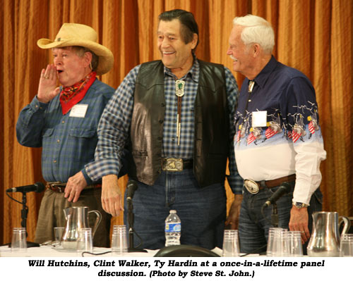 Will Hutchins, Clint Walker, Ty Hardin at a once-in-a-lifetime panel discussion.