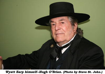 Watt Earp himself--Hugh O'Brian. (Photo by Steve St. John.)