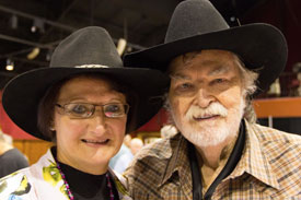"The festival's Carol Ann Kellum was an enormous help to Gregg Palmer at ""A Gathering of Guns"" following Gregg's recent knee surgery."