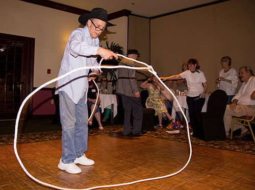 "Johnny Crawford (""Rifleman"") arrived at the Sock Hop just in time to do a little rope twirling."
