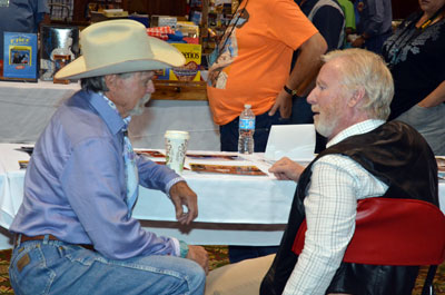 Buck Taylor and Michael McGreevey get acquainted.