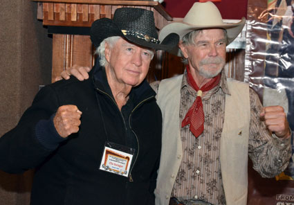 Tough enough...Clu Gulager and Buck Taylor.