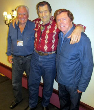 Three Warner Bros. TV stars. Robert Colbert, Clint Walker, Edd Byrnes.