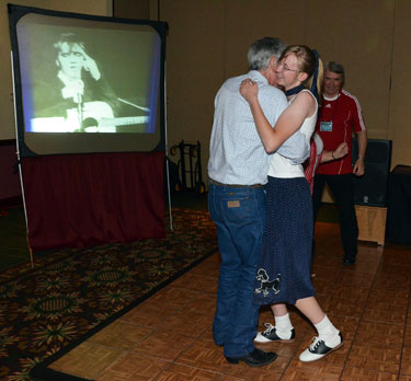 Above and below, Bob Fuller made his many fans happy by attending the sock hop.