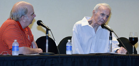 It was a very unsusal panel discussion with moderator and festival co-sponsor Ray Nielsen and Robert Conrad.