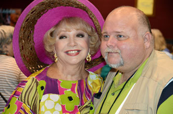 Ruta Lee with festival supporter Ron Cantrell.