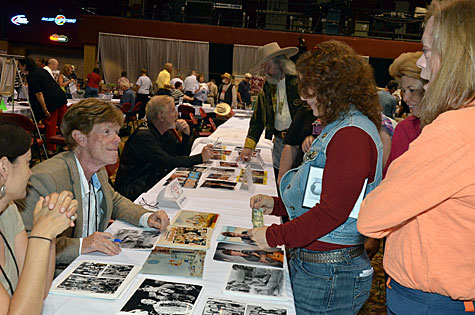 "Jon Walmsley from ""The Waltons"" greets fans."