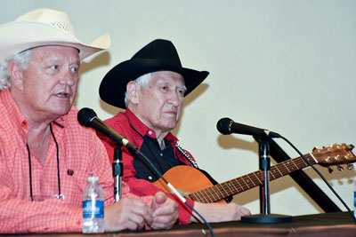 Banquet entertainers Rex Allen Jr.and Les Gilliam.