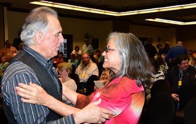 "Terrie Davis gives high praise to Rudy Ramos following Rudy's presentation of ""Geronimo""."