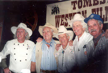 Neil Summers, Bobby Herron, Whitey Hughes, Dean Smith and Bobby Hoy at Tombstone Film Festival in 2001.