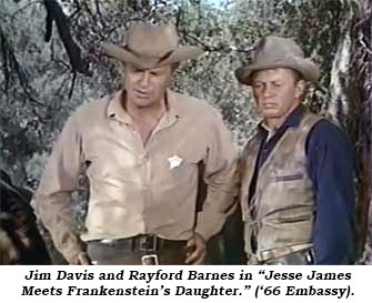 Jim Davis and Rayford Barnes in Jesse James Meets Frankenstein's Daughter ('66 Embassy)