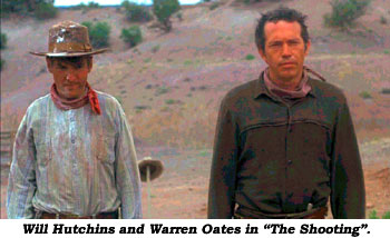 "Will Hutchins and Warren Oates in ""The Shooting""."