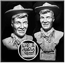 Sculpture of Will Huchins made by Russ Sacco.