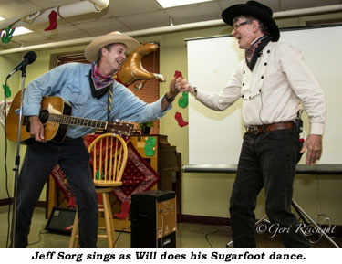 Jeff Sorg sings as Will does his Sugarfoot dance.
