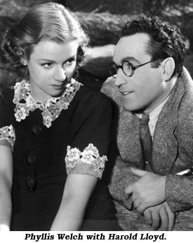 Phyllis Welch with Harold Lloyd.