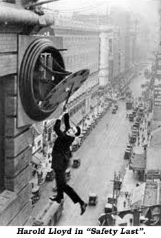 "Harold Lloyd in ""Safety Last""."