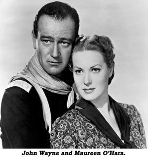 John Wayne and Maureen O'Hara.