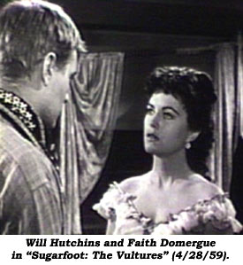 Will Hutchins and Faith Domergue.