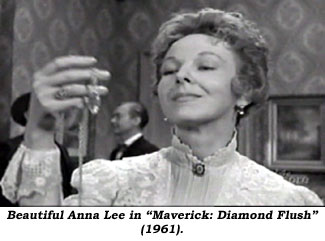"Beautiful Anna Lee in ""Maverick: Diamond Flush"" ('61)."