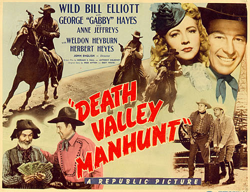 """Death Valley Manhunt"" title card."