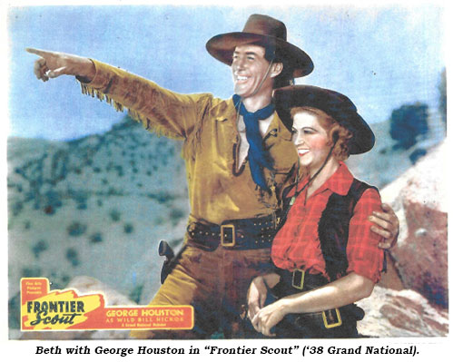 "Beth and George Houston in ""Frontier Scout"" ('38 Grand National)."
