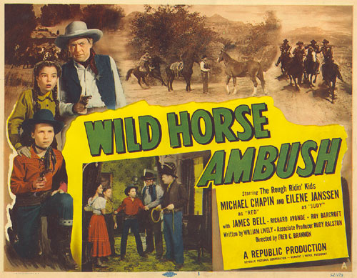 "Eilene Jannsen and Michael Chapin as the Rough Ridin' Kids  in ""Wild Horse Ambush""."