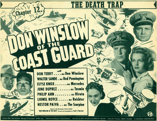 "Title Card to Chapter 12 of ""Don Winslow of the Coast Guard""."