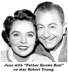 "Jane with ""Father Knows Best"" co-star Robert Young."